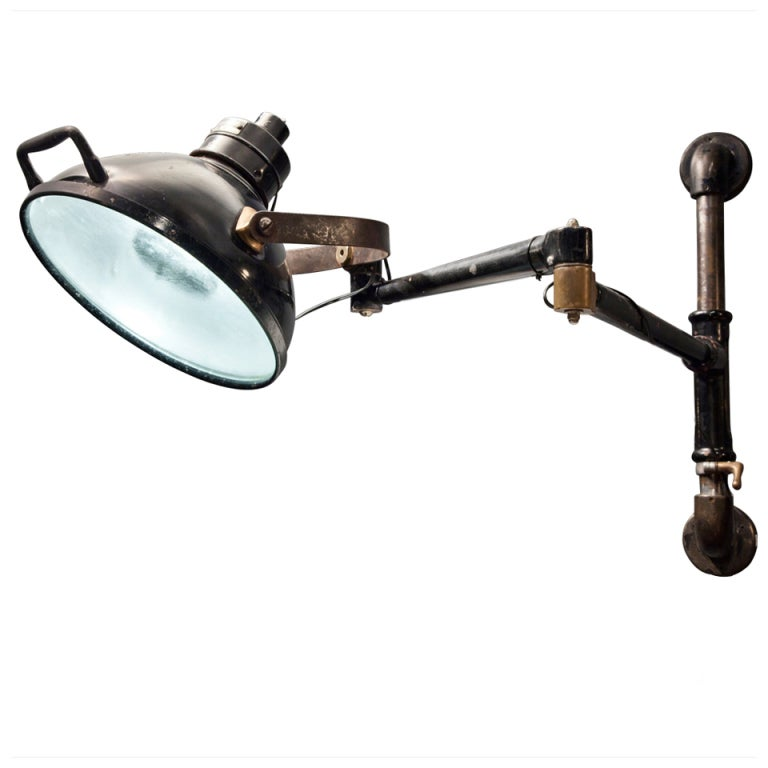 Wall Mounted Industrial Lights : Dental/ Medical Wall Mounted Industrial Light at 1stdibs