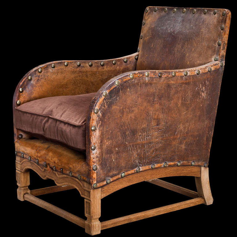 Leather Parlor Chair at 1stdibs