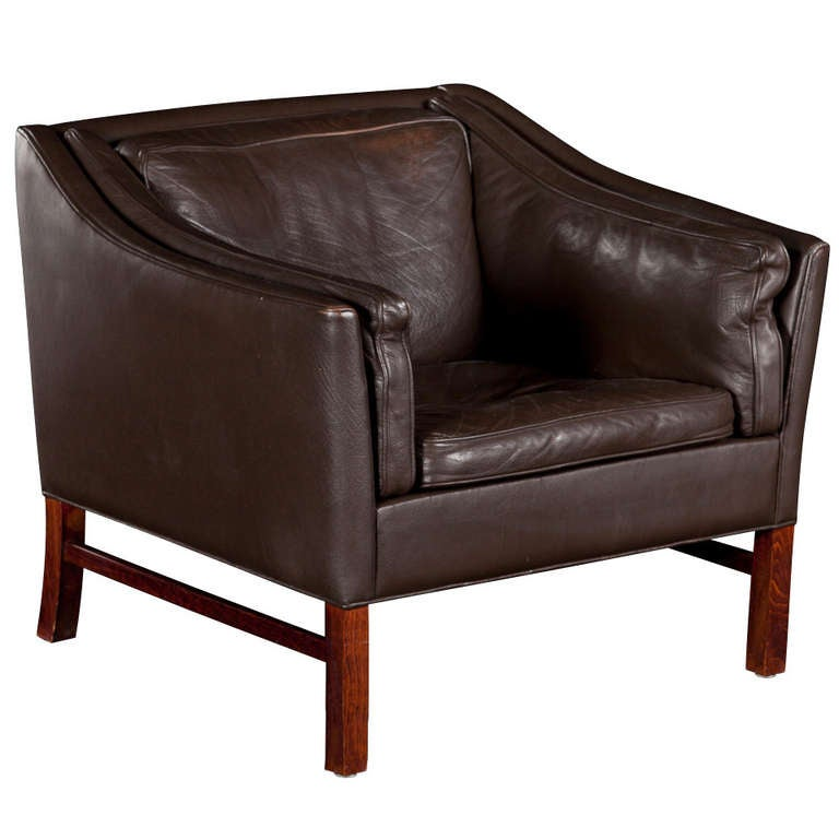 Modern Leather Armchair at 1stdibs