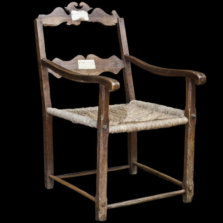 Antique ladder back chairs with rush seats - This Primitive Oversized Farm Chair Is No Longer Available