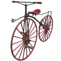 "19th century ""Boneshaker"" Bicycle with Bronze Pedals"