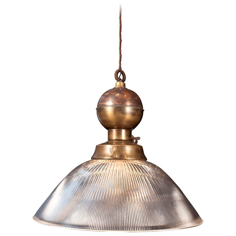 large industrial brass ceiling pendant at 1stdibs