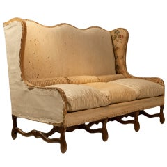 Louis XIII Style French Wingback Sofa