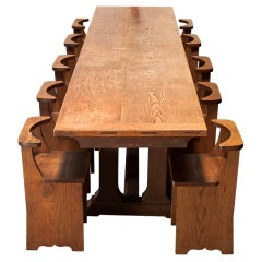 Convent Table designed by Max Gill with Ten Chairs