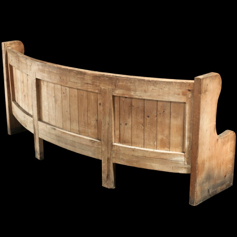 Wooden settee bench antique french cherry wood settee antique bench - Monumental French Chateau Bench At 1stdibs