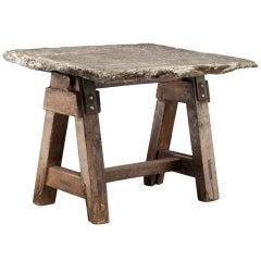 Primitive Stone Slab Top Table
