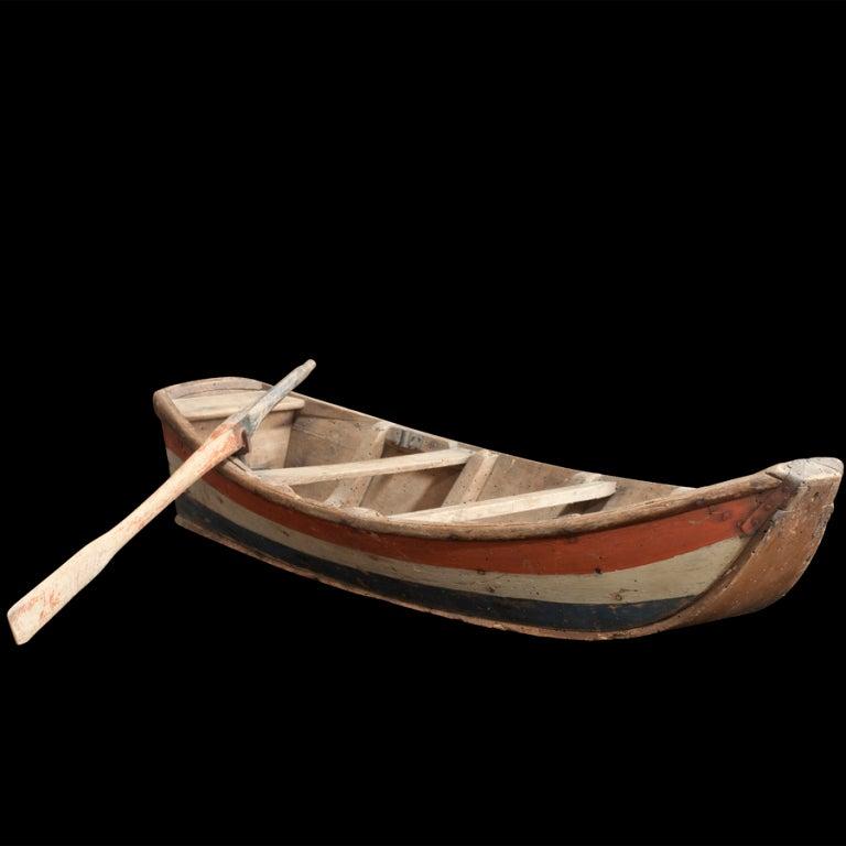 Custom Painted Model Row Boat