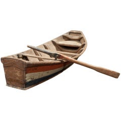 Wooden Model of a Row Boat