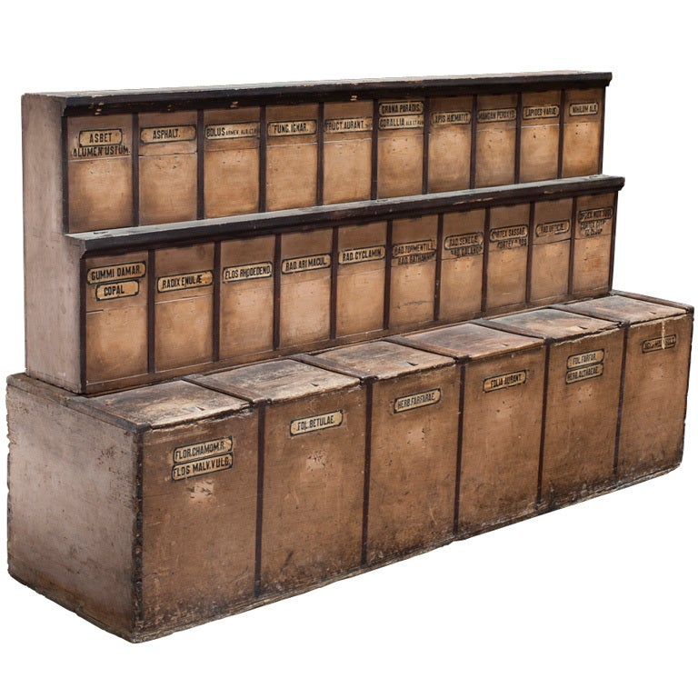 18th Century Apothecary Cabinet At 1stdibs