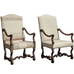Pair of Tall Back Armchairs