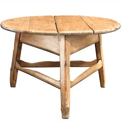 Large Cricket Table with Natural Legs and Top