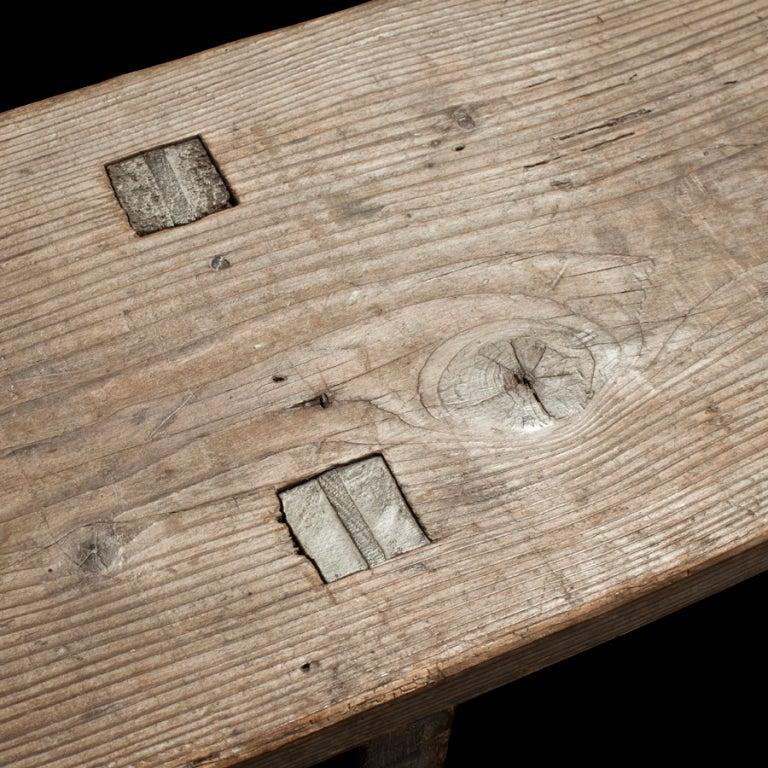 18th Century Primitive Farm Bench image 4