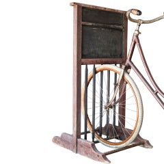 19th Century Wooden Bicycle Rack
