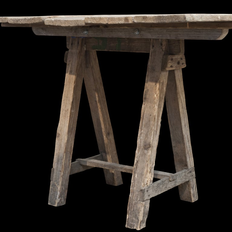 Extra Long Dining Room Tables Sale: Extra-Long Trestle Work Table At 1stdibs