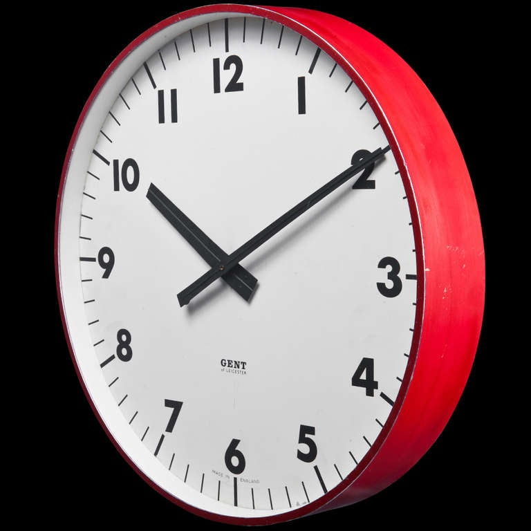 red rim industrial wall clock clocks melbourne large uk