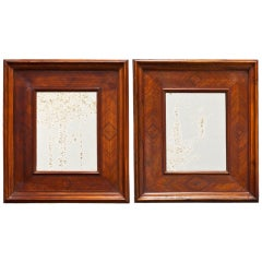 Pair of Walnut Mirrors