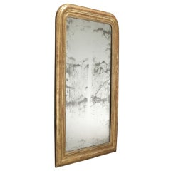 Gold Leaf Oval Top Mirror