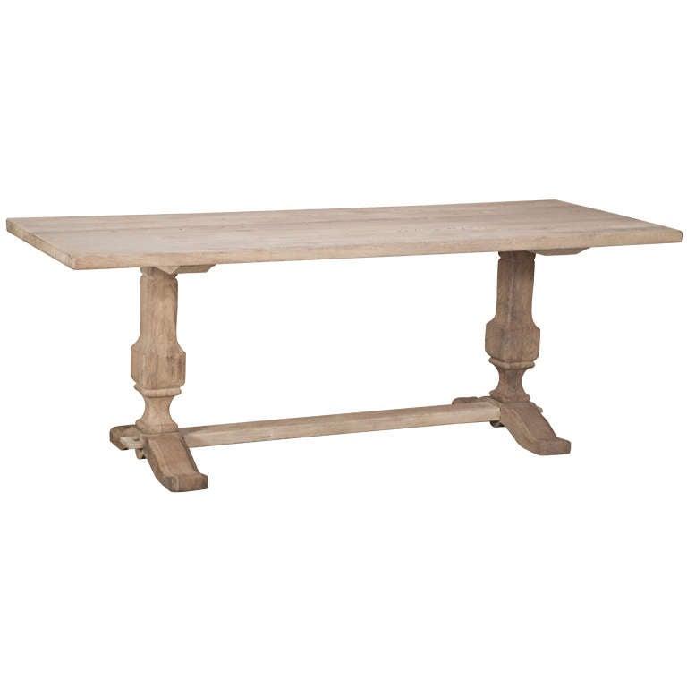 Vintage Oak Trestle Table 1