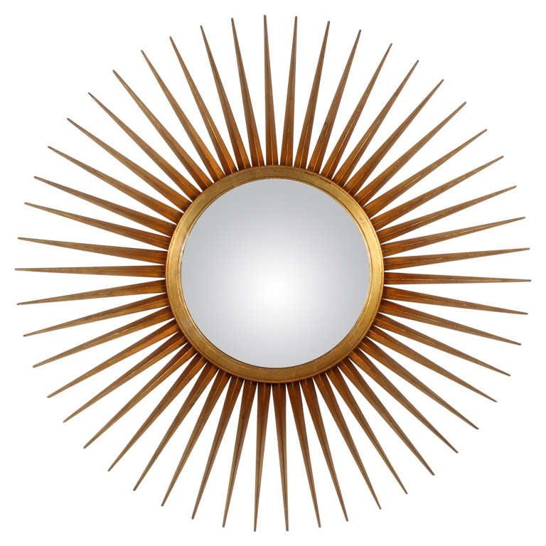 Large mutli rayed giltwood sunburst mirror for sale at 1stdibs for Sunburst mirror
