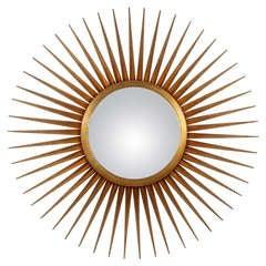 Large Mutli Rayed Giltwood Sunburst Mirror