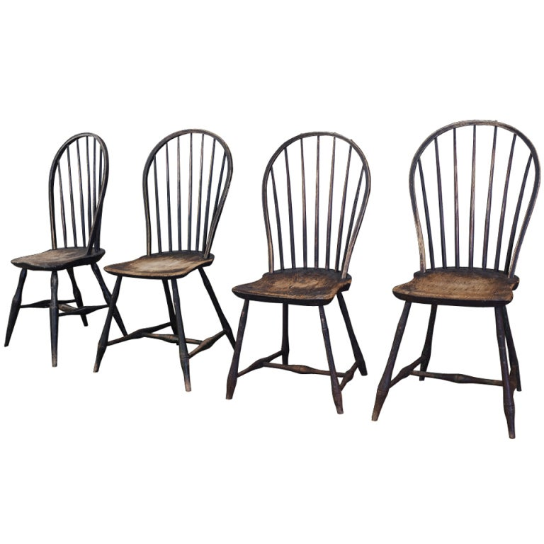 Bow Back Dining Chairs ~ Bow back windsor dining chairs at stdibs
