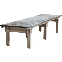 Monumental Zinc Top Table