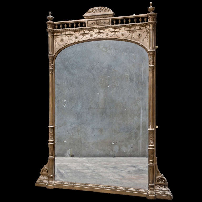 gilted mantel mirror at 1stdibs