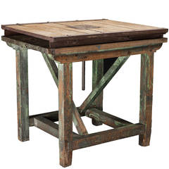 Large Wooden Sculptor's Table