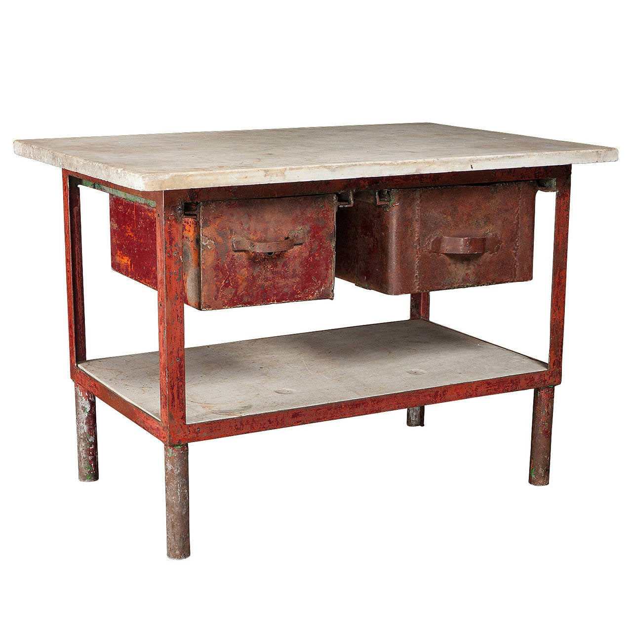 iron and marble work table at 1stdibs