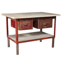 Iron and Marble Work Table