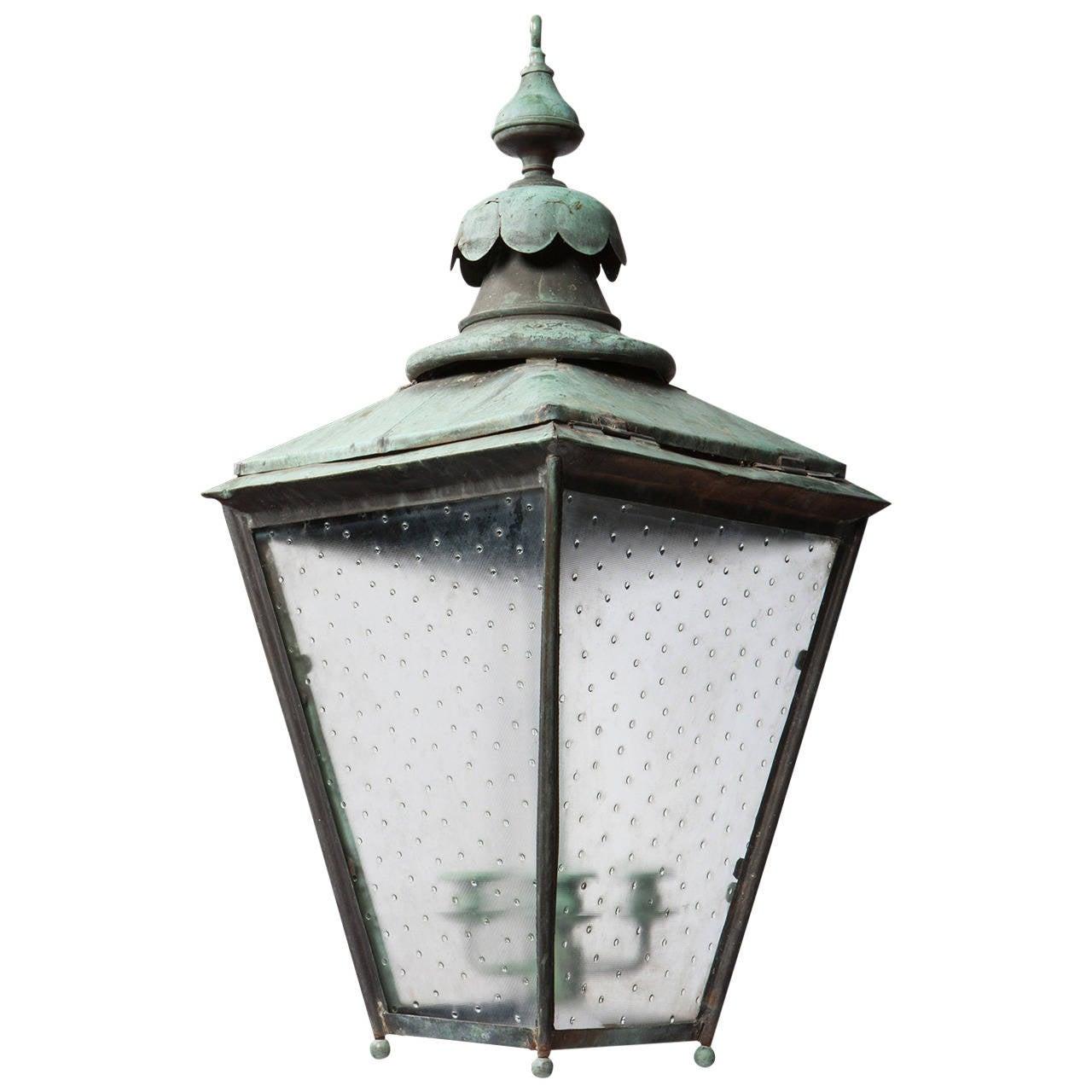 Verdigris Copper Outdoor Garden Lantern 1