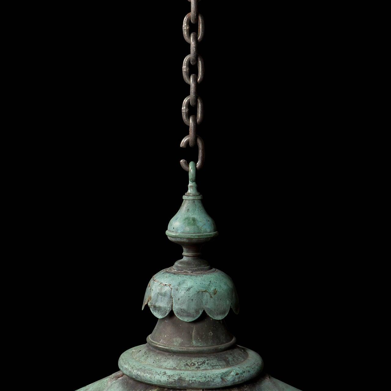 Verdigris Copper Outdoor Garden Lantern 3