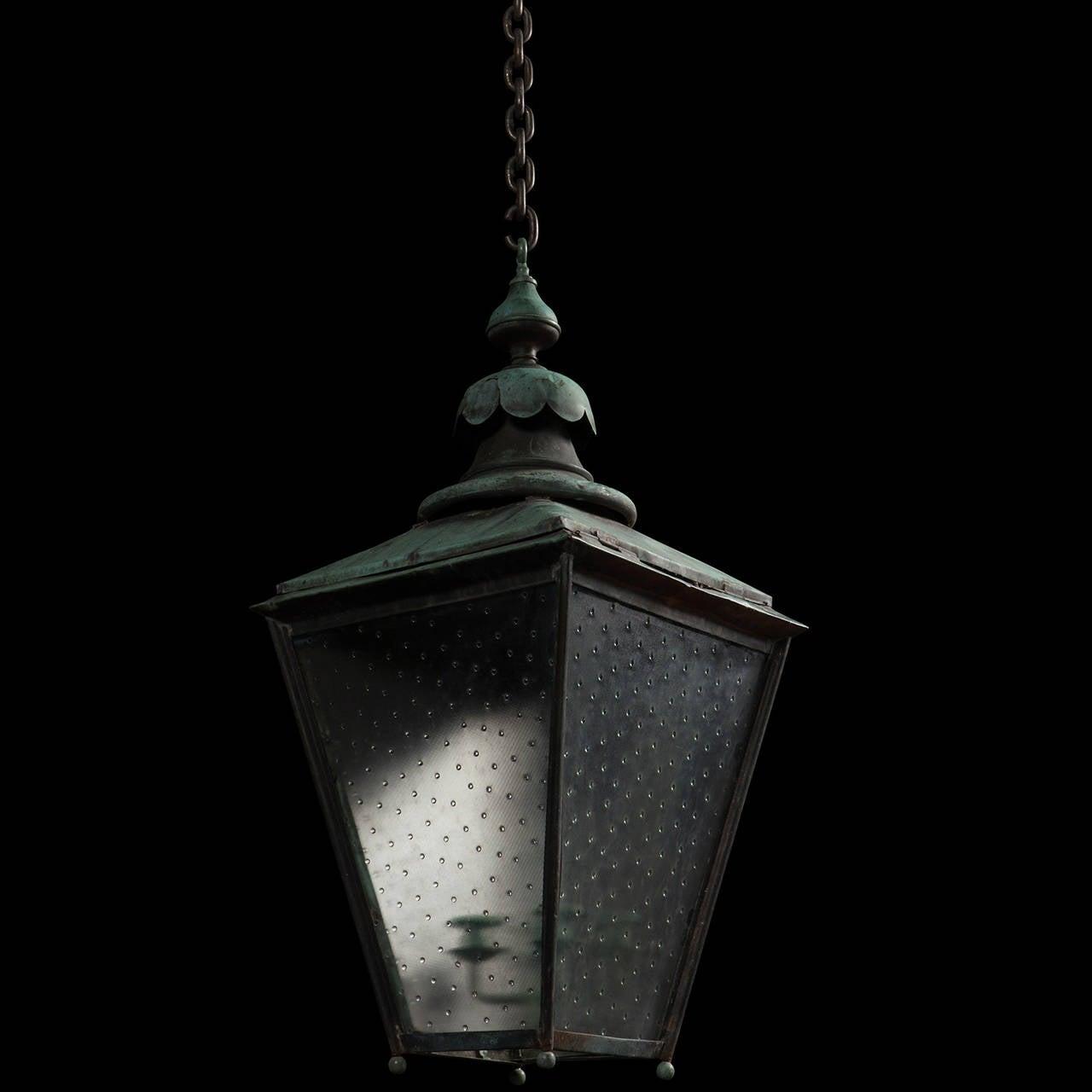 Verdigris Copper Outdoor Garden Lantern 8
