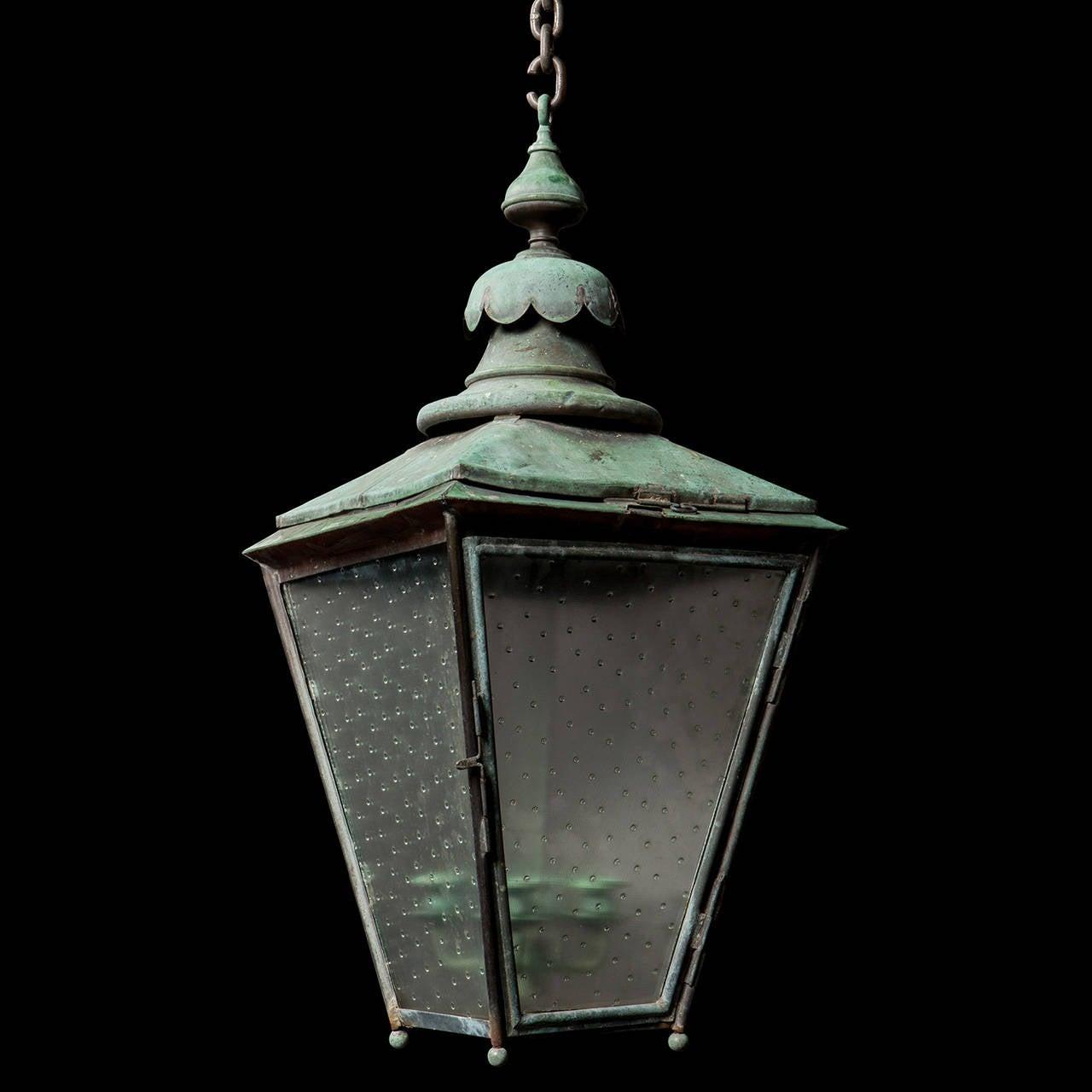 Verdigris Copper Outdoor Garden Lantern 2