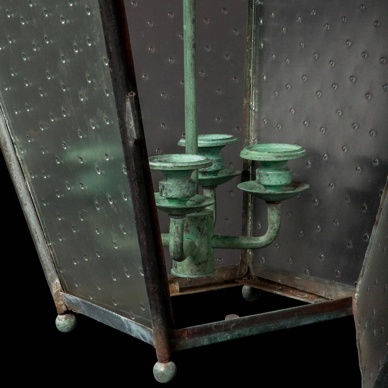Verdigris Copper Outdoor Garden Lantern 6