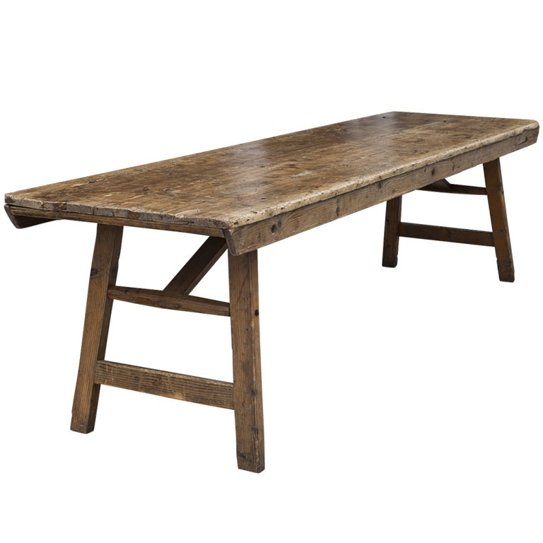 Primitive Farm Work Tables at 1stdibs