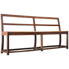 Simple Wooden Convent Bench