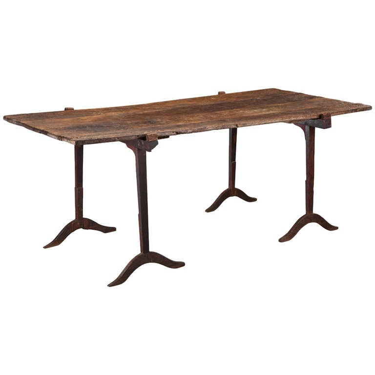 Primitive Dining Table At 1stdibs