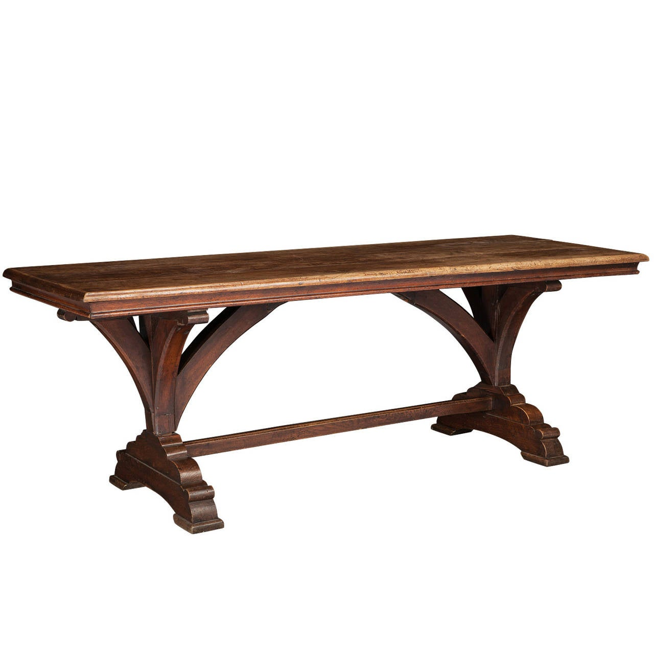 Elegant Gothic Refectory Table For Sale