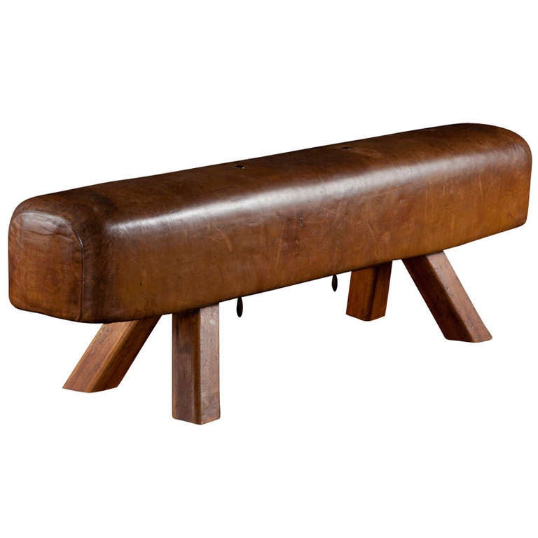 Leather Gym Bench At 1stdibs