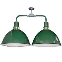 Industrial Double Green Factory Light