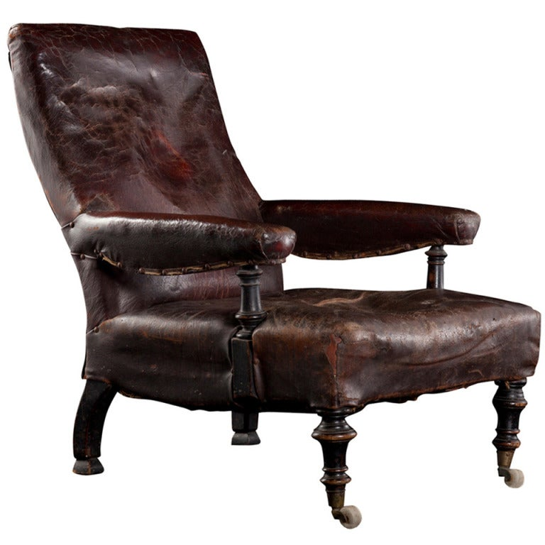 Leather library lounge chair at 1stdibs - Library lounge chairs ...