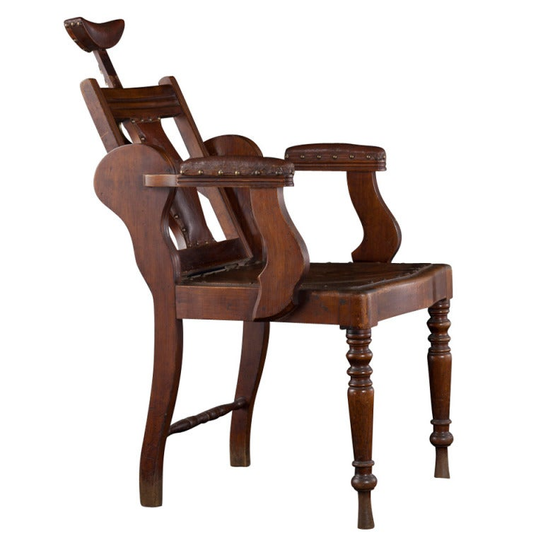 Early Barber S Chair At 1stdibs