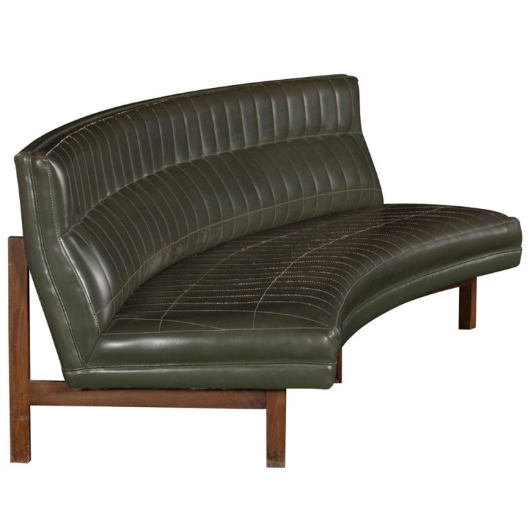 curved form modern sofa at 1stdibs