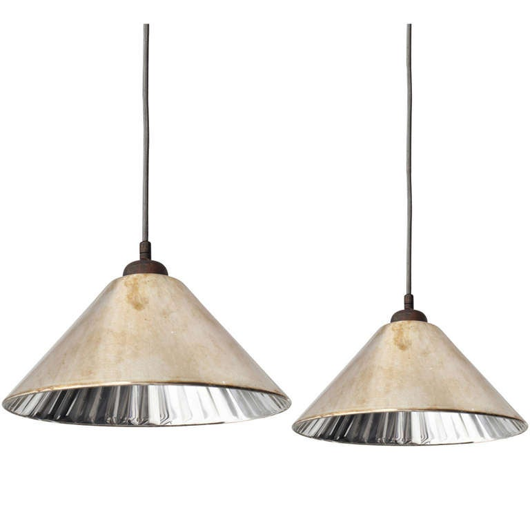 Rose colored mercury glass pendant at 1stdibs - Colored glass pendant lights ...