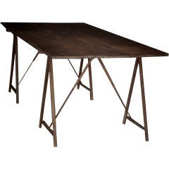 Belgian Work Table with A-Frame Leg Supports