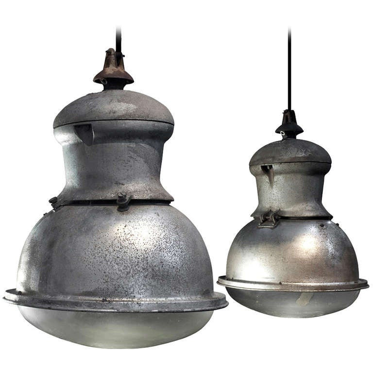 oversized industrial factory light at 1stdibs