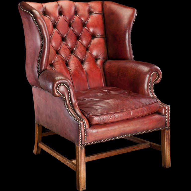 This Red Leather Wingback Chair is no longer available.