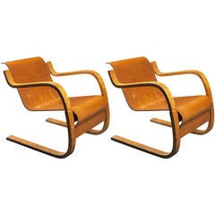 Pair of Model 31 Armchairs by Alvar Aalto