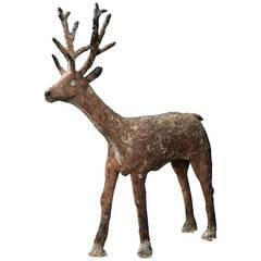 Folk Art Deer Sculpture